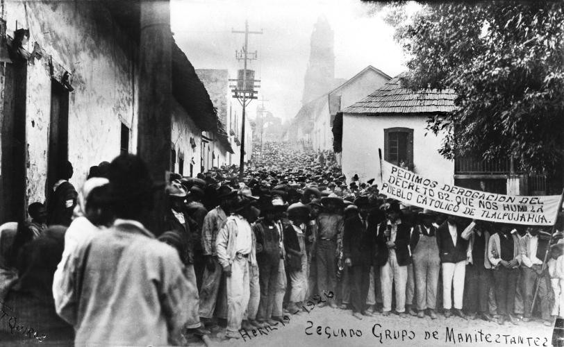 Manifestación pacífica católicos